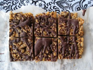 crispy rice bars cut