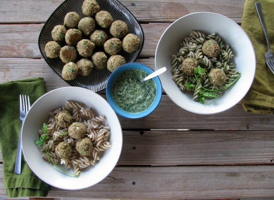 Factor's Recipe: Lentil Meatballs with Lemon Pesto Sauce | The ...