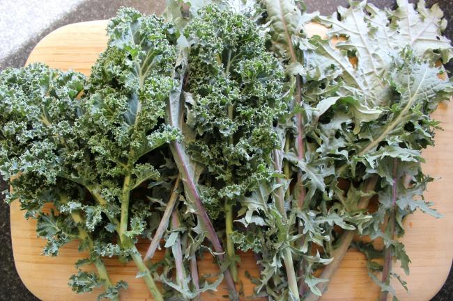 quinoa with kale
