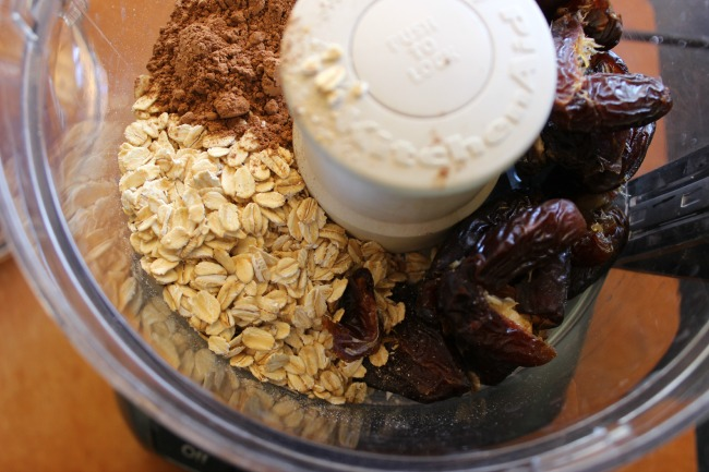 Raw Chocolate Cookie ingredients